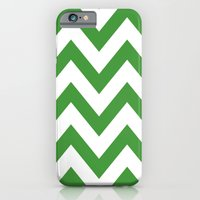 iPhone & iPod Case featuring MEAN GREEN CHEVRON by natalie sales