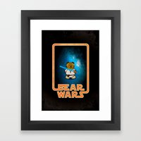 Bear Wars - Duke Cubpoker Framed Art Print