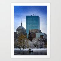 Winter In Boston Art Print
