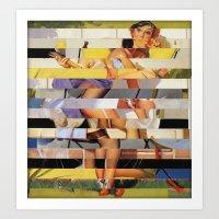 Glitch Pin-Up Redux: Isa… Art Print