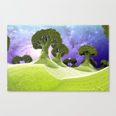 Broccoli Planet Canvas Print