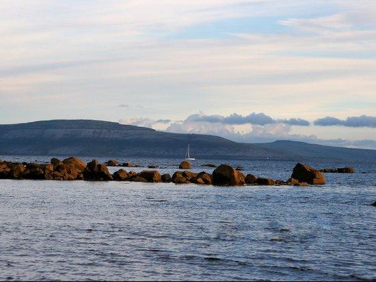 Sail Away On Galway Bay - Ireland Ocean Landscape - Blue Art Print