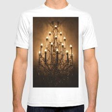 chandelier Mens Fitted Tee White SMALL