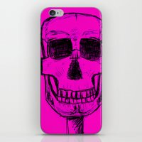 Pink Skull iPhone & iPod Skin