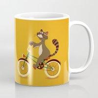 Raccoon On A Bicycle Mug