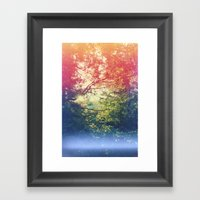Through The Looking Glas… Framed Art Print