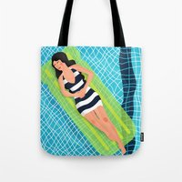 In the pool Tote Bag