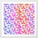 Triangular color Art Print