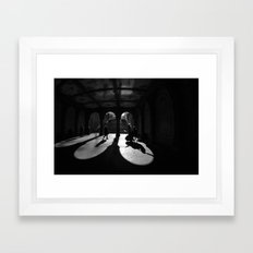 The Play Of Winter In Central Park Framed Art Print
