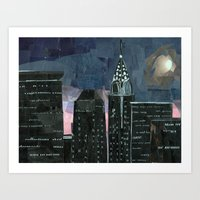 Night Time In The City Art Print