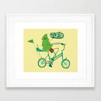 Go Green Framed Art Print
