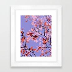 Copper Flowers on violett ground Framed Art Print