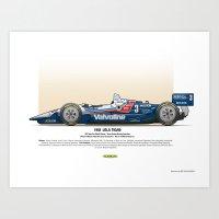#3 LOLA - 1993 - T9300 - Al Unser Jr Art Print