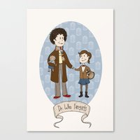 Dr Who Fangirls Canvas Print