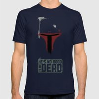 Boba Paint Mens Fitted Tee Navy SMALL