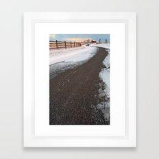 Winding Winter Road Framed Art Print