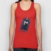 Totally And Radically Driving In Space Unisex Tank Top