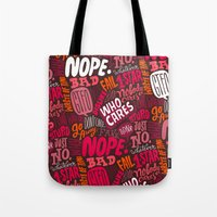 Rude Pattern Tote Bag
