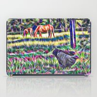Horses And Hens In A Fie… iPad Case