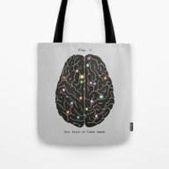 Tote Bag featuring Your Brain On Video Game… by Terry Fan