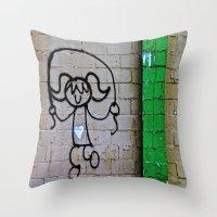 Jump Rope Street Art Throw Pillow