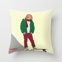 CHUCKY - Modern outfit version Throw Pillow