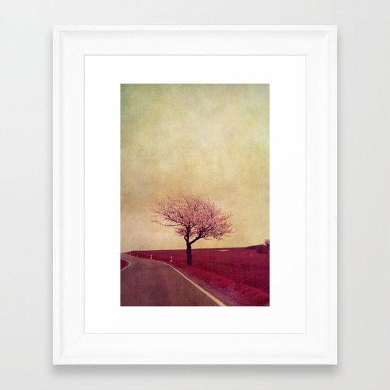 spring field Framed Art Print