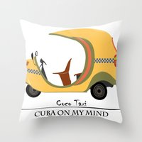 Coco Taxi - Cuba in my mind Throw Pillow