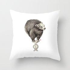 Bear your weight Throw Pillow