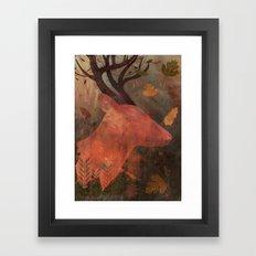 Monarch of Autumn Framed Art Print
