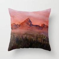 Fictional Landscape I Throw Pillow