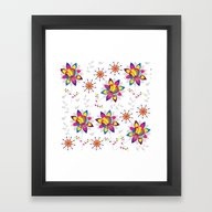 Framed Art Print featuring Floral Pattern 4WE by Luizavictorya72