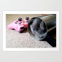 Gamer Bunny Art Print