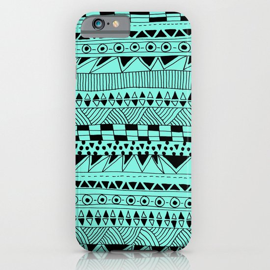 Fun - Black and Mint iPhone & iPod Case