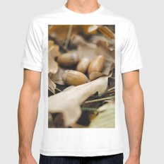 Acorns SMALL Mens Fitted Tee White