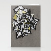 Yellow Structure Stationery Cards