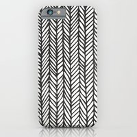 iPhone & iPod Case featuring Black Threads by Samantha Johnson