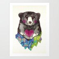 Bear Yeah Art Print