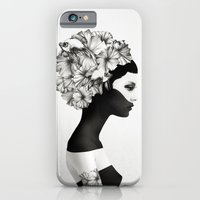 black iPhone & iPod Cases featuring Marianna by Ruben Ireland