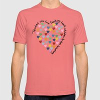 Hearts Heart Teacher Mens Fitted Tee Pomegranate SMALL