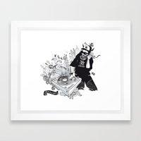 GOD IS A DJ Framed Art Print