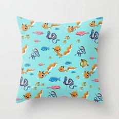 Fox Tales - A Tropical Swim Throw Pillow