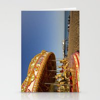 Golden Carousel at the Beach Stationery Cards