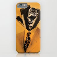 iPhone & iPod Case featuring Mr. Microphone by JustinPotts