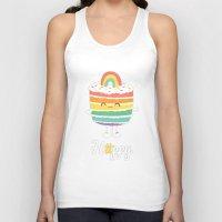 Happy Rainbow Cake Unisex Tank Top