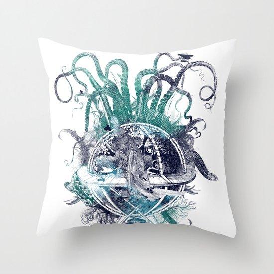 strange artefact amusement park Throw Pillow