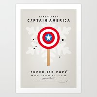 My SUPER ICE POP- No08 - America Captain Art Print