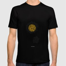 - cosmos_01 - SMALL Mens Fitted Tee Black