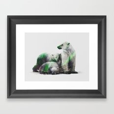 Arctic Polar Bear Family Framed Art Print