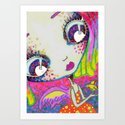 Blythe Doll from Dimension 6 Art Print